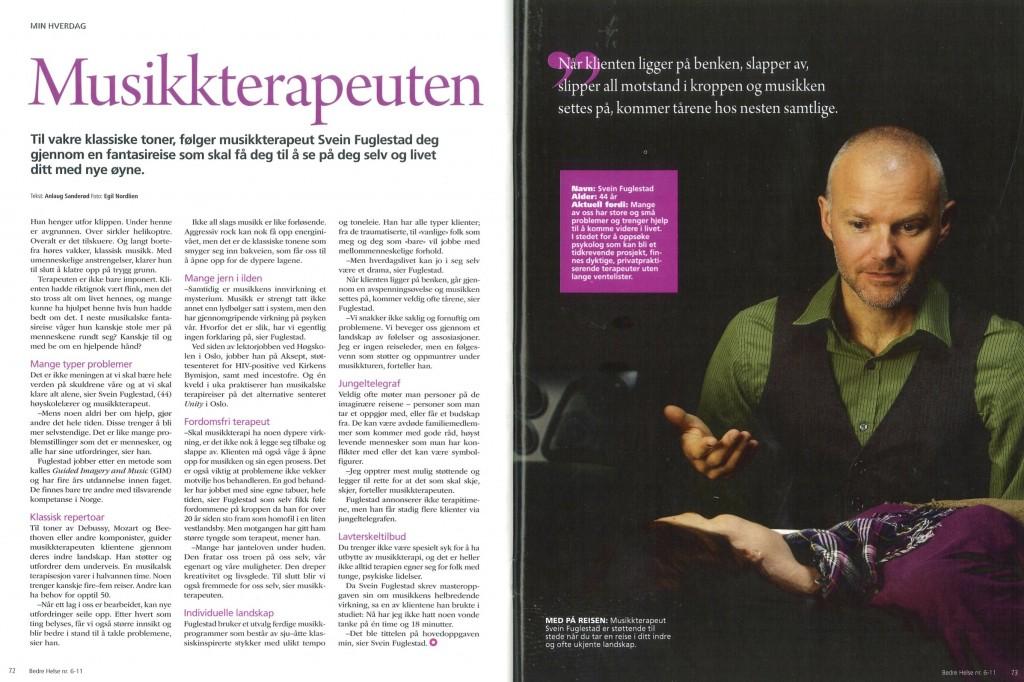 Intervju i Bedre Helse 2011 -bilde