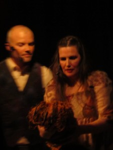Heidi og meg i aksjon under en av forestillingene.